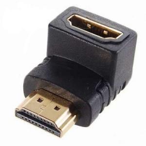 Переходник HDMI угловой гнездо-штекер