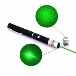Лазерная указка 5мВт, питание 2хAAA, зелёный луч с насадкой «звёздное небо»-1