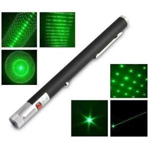 Лазерная указка 5мВт, питание 2хAAA, зелёный луч с насадкой «звёздное небо»-2