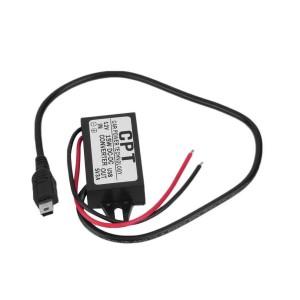 DC преобразователь 12 В до 5 В 3A  с микро USB кабелем для автомобиля