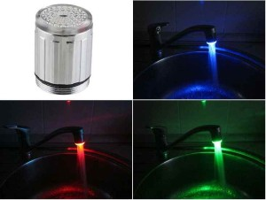 насадка на водопроводный кран, подсветка струи, с термодатчиком-1