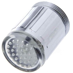 насадка на водопроводный кран, подсветка струи, с термодатчиком