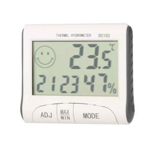 DC102 термометр-гигрометр-будильник