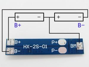 контроллер заряда-разряда для Li-ion батарей, 2 ячейки, до 5А.-1