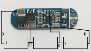 контроллер заряда-разряда для Li-ion батарей, 3 ячейки, до 13А.-1